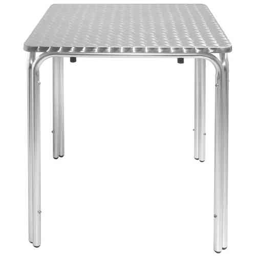 Table carrée en inox empilable 600x600mm