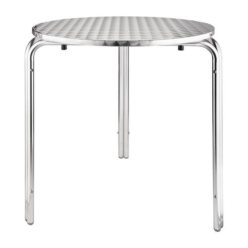 Table ronde en inox empilable 700mm