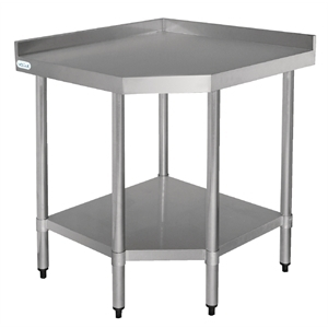 Table inox d'angle 600(800) x 600(800) mm