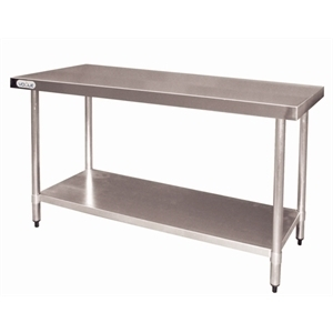 Table inox sans rebord 600 x 1800 mm