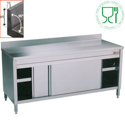 Table armoire inox AISI 304 profondeur 600mm