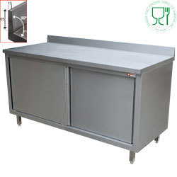 Table armoire inox AISI 304/441 profondeur 600mm